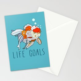 Life Goals Stationery Cards