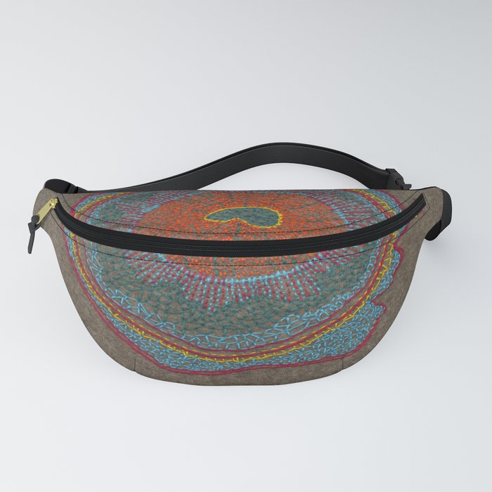 Growing - Thuja - plant cell embroidery Fanny Pack