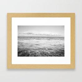 White Ocean Framed Art Print