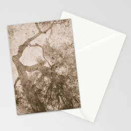 Vintage delicate tree pattern Stationery Cards