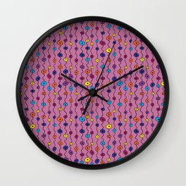 Electric Flower Buds Wall Clock