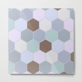 Violet pastel shades hive Metal Print