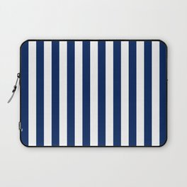 Navy and White Small Even Stripes Laptop Sleeve
