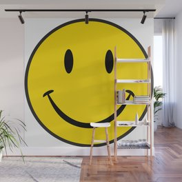 Smiley Happy Face Wall Mural