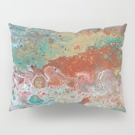 Copper Turquoise Dirty Pour Pillow Sham