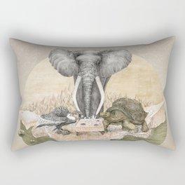 Elephant tea time Rectangular Pillow