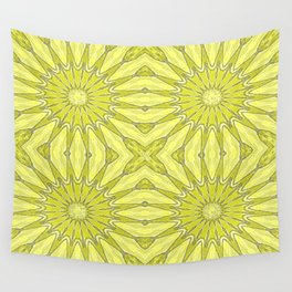Yellow Pinwheel Flower Wall Tapestry