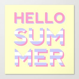 Hello Summer Canvas Print
