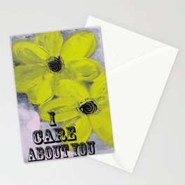 I Care About You Stationery Cards