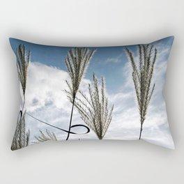 GRASSES in AUTUMWIND  Rectangular Pillow