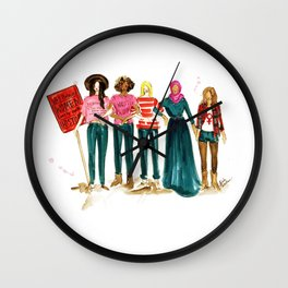 Nasty Women Wall Clock
