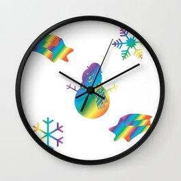 Rainbow Winter Wall Clock