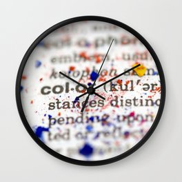 Color Definition Wall Clock