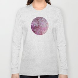Pink Marble Long Sleeve T-shirt
