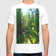 Sunshine Forest MEDIUM Mens Fitted Tee White