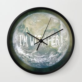 Earth Day - I'm with her! Wall Clock