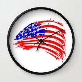 USA Sketched Flag Wall Clock