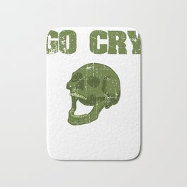 """Great Cooking Design For Chef T-shirt Design """"Go Cry In The Walk In"""" Fork Knife Fork Kitchen Dessert Bath Mat"""