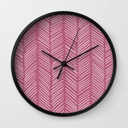 Lipstick Herringbone Wall Clock