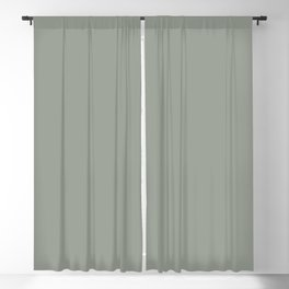 Frosty Pastel Green Solid Color Pairs with Sherwin Williams Haven 2020 Forecast Color - Acacia Haze Blackout Curtain
