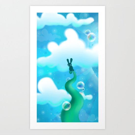 Beanstalk Bunny Art Print