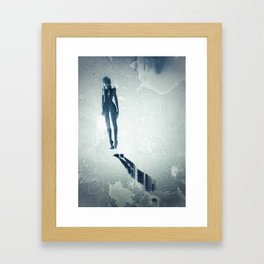 Float: Surreal digital art Framed Art Print
