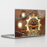 steampunk Laptop & iPad Skins featuring Steampunk  by nicky2342