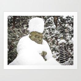 Meditation in Snow Kunstdrucke