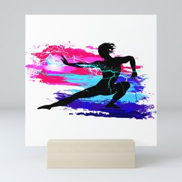 Martial arts, karate, yoga, aikido, judo, athlete Mini Art Print