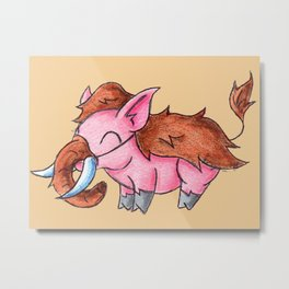 Piggy Mammoth Metal Print