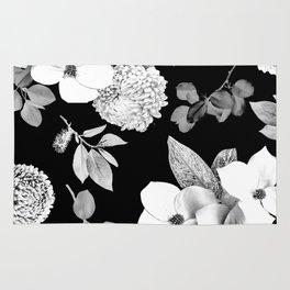 Night bloom - moonlit bw Rug