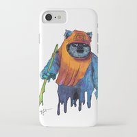 ewok iPhone & iPod Cases featuring Trippy Ewok by Lyn Sweet