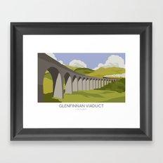 Glenfinnan Viaduct Railway Poster Framed Art Print