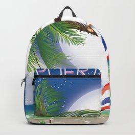 Puerto Rico Hammock night poster. Backpack
