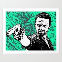 rick grimes Art Prints featuring Rick Grimes by ACHE