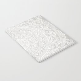 Mandala Soft Gray Notebook