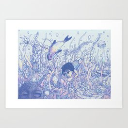 Explore to Discover Art Print