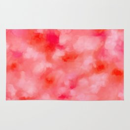 Blush Cream Coral Floral Abstract Rug