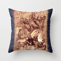 medieval Throw Pillows featuring Medieval by TheMagicWarrior