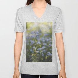 Forget-me-not meadow Spring Flower Flowers Floral Unisex V-Neck