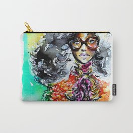 Retro colorful fashion illustration Carry-All Pouch