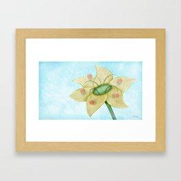 Pollen Flower Framed Art Print