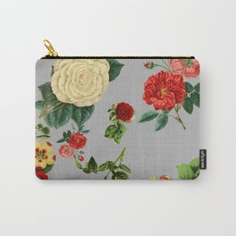 Grey vintage roses Carry-All Pouch