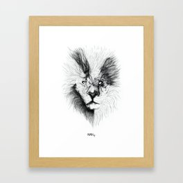 Amici Lion Framed Art Print