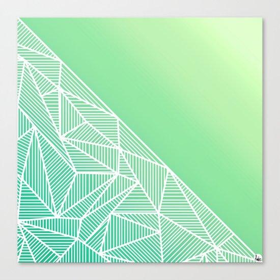 B Rays Geo Gradient Green Canvas Print