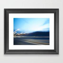 Driving light 1 Framed Art Print