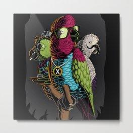Hipster Birds Metal Print