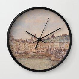 View Of Salzburg 1897 by Rudolf von Alt | Reproduction Wall Clock