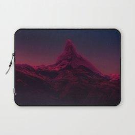 Pink mountains at night Laptop Sleeve