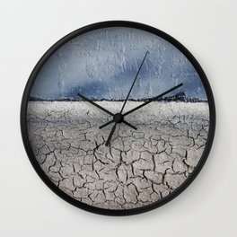 Broken Desert / Mixed Media Painting Wall Clock
